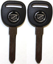 2 (Pair) NEW CADILLAC REPLACEMENT PK3 ID13 TRANSPONDER CHIPPED UNCUT LOGO KEYS