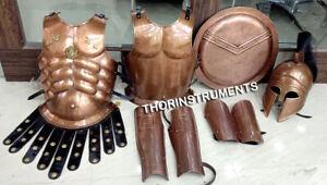 X-Mas Greek Helmet+Muscle Armor Jacket Medieval Armor Set Spartan