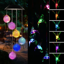 New listing Led Solar Powered Wind Chime Light Lamp Color Changing Garden Hanging Decor Us