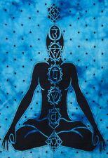 Indian Blue 7 chakra Buddha Bohemian Throw Mandala Poster Wall Hanging Tapestry
