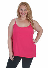 Cotton Blend Tank, Cami Solid Tops for Women