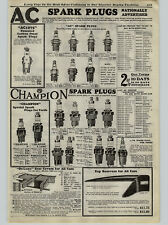 1926 PAPER AD AC Spark Plugs Champion Boyce Moto Meter Ford Cars Universal
