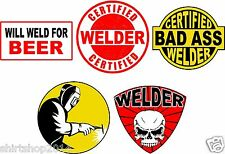 Lot of (5) Welder Helmet Stickers decal Art Wall Vinyl Sticker Decals Decor