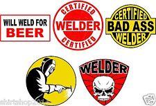 Lot of (5) Welder Helmet Stickers decal Art Wall Vinyl Sticker Decals Decor