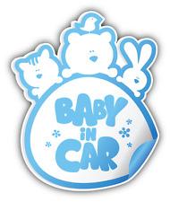 """Baby In Car Boy Sign Car Bumper Sticker Decal 4"""" x 5"""""""