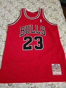 Mitchell Ness  m&n Chicago Bulls Michael Jordan authentic jersey USA 44 Large L