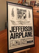"1 BIG 11X17 FRAMED JEFFERSON AIRPLANE LP ALBUM CD 45 ""PROMO AD"" - choose from 12"