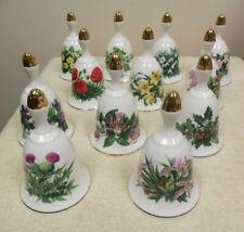 12 Royal Botanic Gardens Wildflower Bells - Ltd Edition Danbury Mint Collection