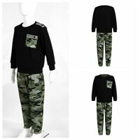 Boys Girls Autumn Suits Kids Camouflage Print Sets Top+Pants Casual Wear Outfits