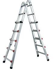 Scala telescopica Step Up Piuma in alluminio 4+5 gradini H max 4,44 mt