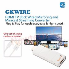 GloryKylin GKWire HDMI TV Stick Wired Mirroring and Airplay/Miracast Streaming