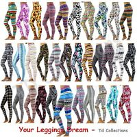 NEW Skinny Colorful Print Leggings Stretchy Sexy Pencil  Pants S,M,L