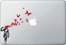 MB - Suicide Butterflies - Banksy Style Vinyl Macbook Laptop Decal (2 Pieces)