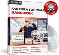 Faktura Software Handwerk Netzwerkversion für 10 Rechner,PC Handwerkerprogramm