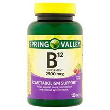 Spring Valley Fast Dissolve Vitamin B12 Cherry Flavored 2500mcg 120 Tablets