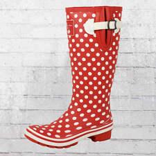 Evercreatures Damen Gummistiefel Polka Dots rot weiss Wellies Wellington Boots