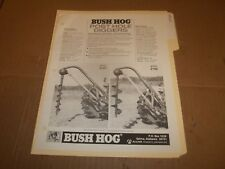 PY117) Bush Hog Sales Brochure 2 Pages - Post Hole Diggers
