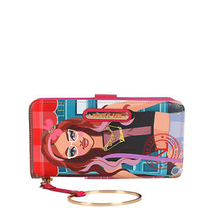 PRT6700 Nicole Lee Wallet Wristlet Strap With Bracelet DIANA TELLS THE STORY