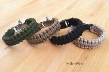 REAL Mil Spec MIL-C-5040H Type III 550 Paracord Survival Bracelet Strap Band