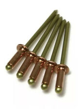 "Copper Blind POP Rivet - 4-4 #44, Brass Mandrel 1/8"" (0.188 - 0.250) QTY 50"