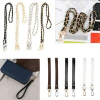 New Metal with PU Leather Bag Chain Strap Belt for Purse Handbag Shoulder Bag