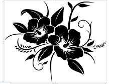 flower any color vinyl car sticker, decal, window laptop oracal 651 glossy