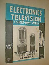 ELECTRONICS & TELEVISION & SHORT-WAVE WORLD. APRIL 1940. MAGAZINE. RADIO & TV