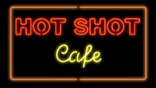 "New Hot Shot Cafe Neon Light Sign 24""x20"" Lamp Poster Real Glass Beer Bar"