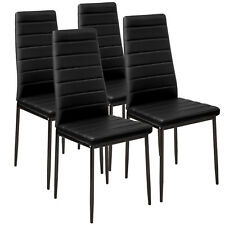 4x Chaise de salle à manger ensemble salon design chaises cuisine neuf noir