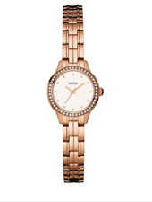 💋  NEW GUESS Women's Rose Gold Stainless Steel Bracelet Petite Watch 💋