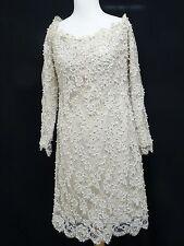 VINTAGE LILLIE RUBIN PEARL & RHINESTONE GOWN EVENING DRESS