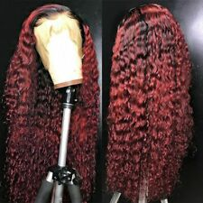 Curly Lace Human Hair Wigs T Part Malaysian Remy Hair Wigs Pre Plucked Wigs 200%