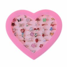 1pc Fancy Adjustable Cartoon Rings Party Favors Kids Girls Action Figures Toy