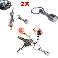 2 Pcs Keyring Holder Test Magnet For Silver Gold Scrap Metal Antiques Key Chain