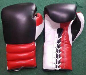 New Custom 100% leather reg black boxing gloves, any logo Name,no winning,grant