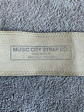 Music City Strap Co. Leather Guitar Strap