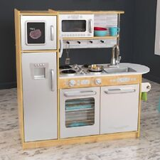 Natural Refrigerator Kitchen Stove Set Home Children Pretend Play Kids Toys