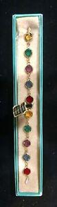 Genuine Swarovski Australian Crystals Bracelet-Multi-Colored Glass NWT