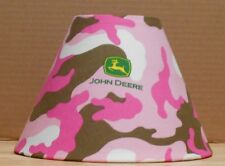 John Deere lamp shade fabric tractor farming Handmade Desk Table Camo Camoflage