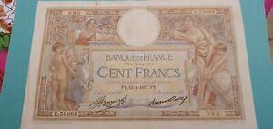 Billet 100 Francs Luc Olivier Merson 1937