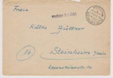 NACH 45, Gebühr bezahlt / Barfreimachung, Werben über Seehausen/Altm 9.8.48