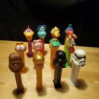 Vintage Pez Dispenser Lot Garfield Star Wars Pez-A-Saurs Darth Vader