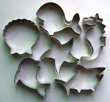 Ocean Shark Dolphin Seahorse Starfish Shell Whale Baking cookie cutter 4565