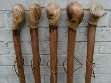 """Chestnut legno Bastone Da Passeggio Di Canna radice BALL Manopola RUSTIC spessa Da Passeggio Di Canna 46 """""""