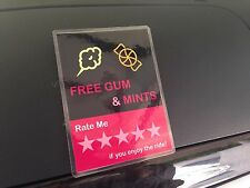 2 x Uber Lyft Headrest Passenger Rating Decal Sign Rideshare Car Display Cards