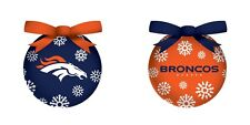 DENVER BRONCOS LED BOXED ORNAMENTS~SET OF 6~GIFT BOXED~BATTERIES INCLUDED!!