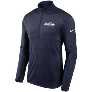 Seattle Seahawks NFL Jacket Mens Nike Fan Gear Element Half-Zip Jacket - New