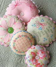 Sarah's Pincushions - Sewing Craft PATTERN - Needlework Pins Stitcheries
