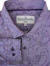 THE SPITALFIELDS SHIRT CO. Shirt Mens 15.5 M Purple - Flowery Design