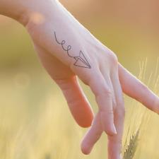 Paper Airplane Temporary Tattoos, airplane tattoo, Tiny Feminine tattoo